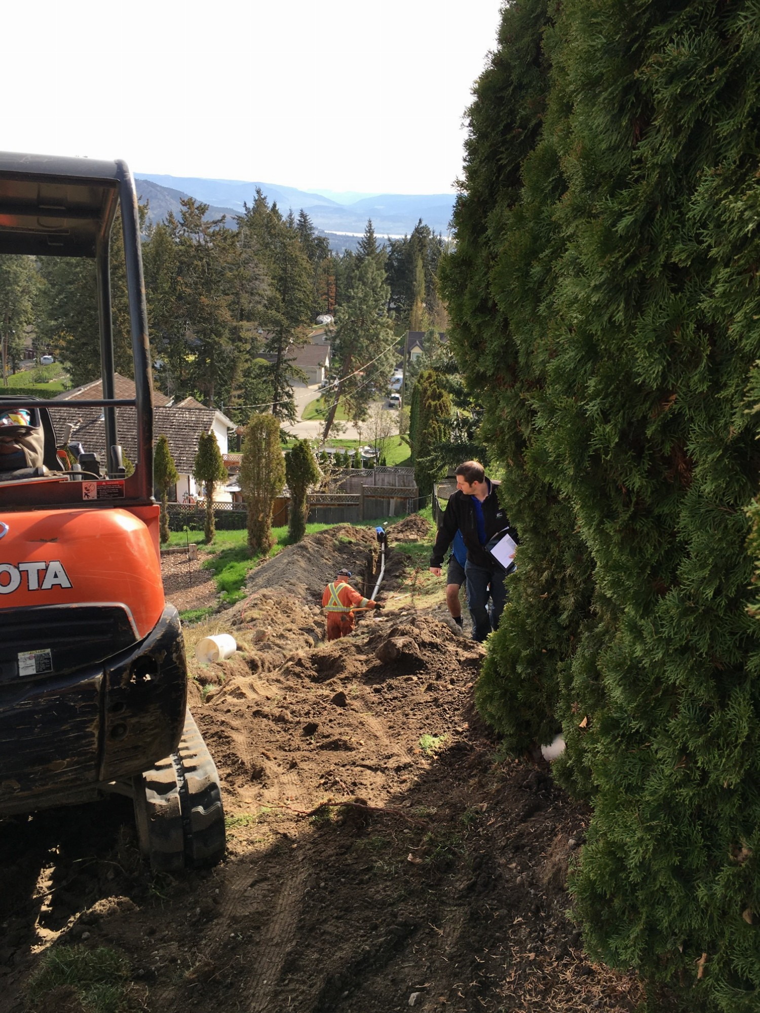 West Kelowna Plumbers - A1 Choice Plumbing - Installing a sewer connection