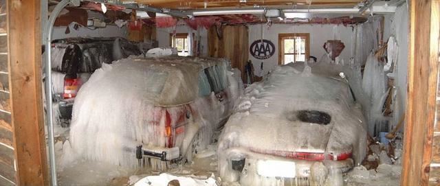 Kelowna and West Kelowna Plumbers - A1 Choice - frozen cars in garage due to winter leak