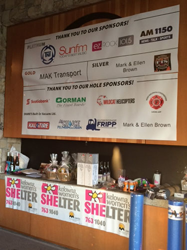 Kelowna and West Kelowna Plumbers - Silent auction at the charity golf tournament