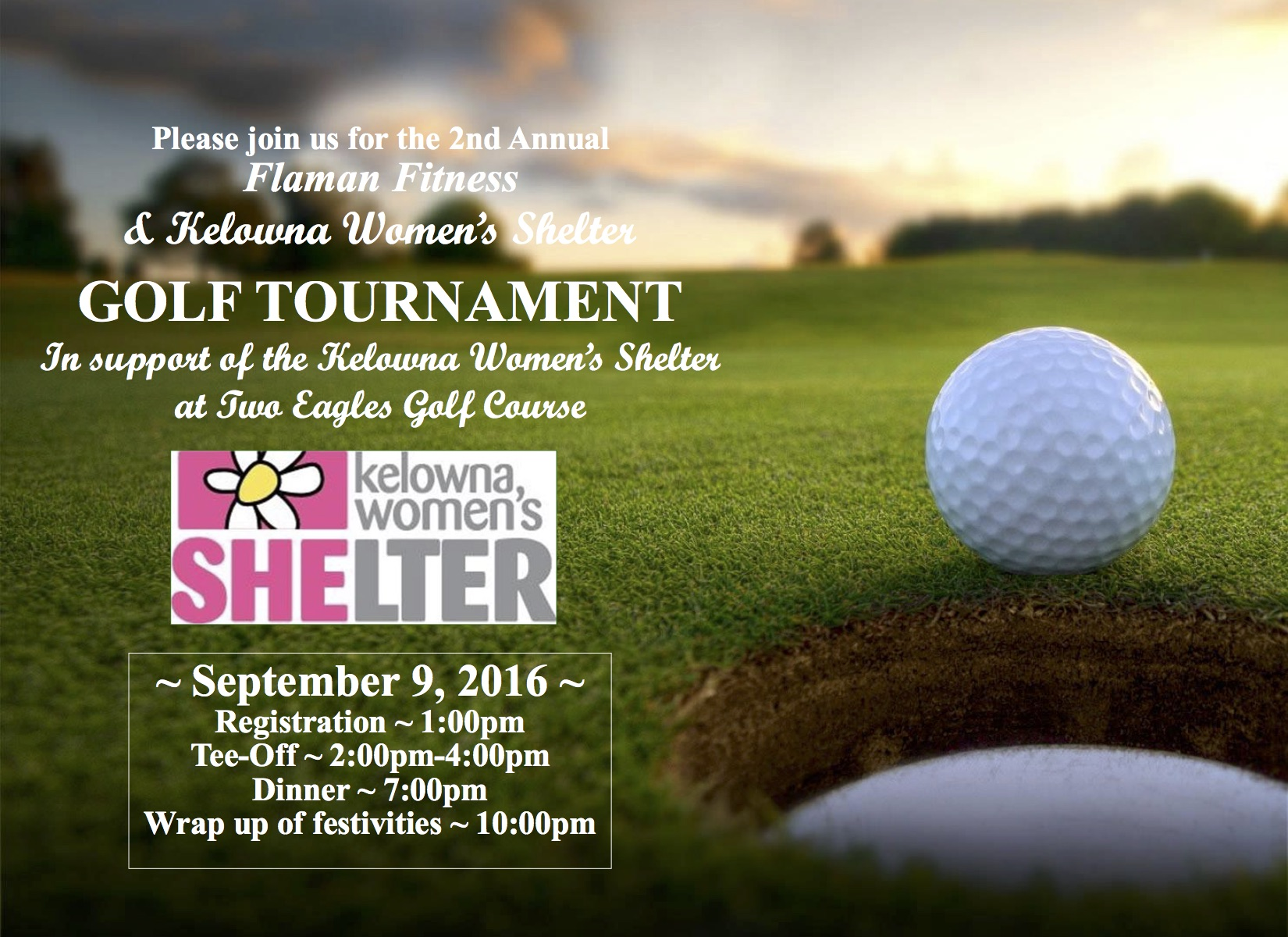 2016 Golf tournament Kelowna Women Shelter INVITATION